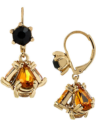 HOLLYWOOD GLAM CLUSTER DROP EARRING MULTI