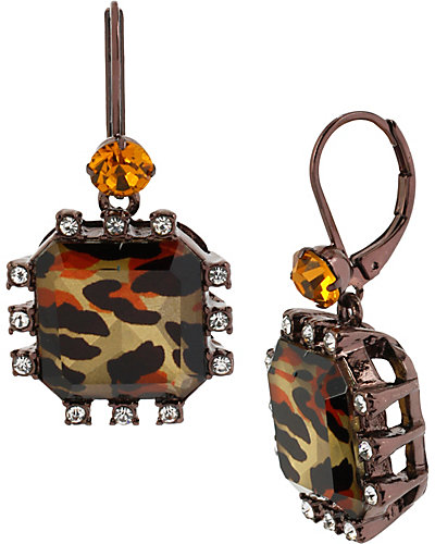 HOLLYWOOD GLAM DROP EARRING LEOPARD