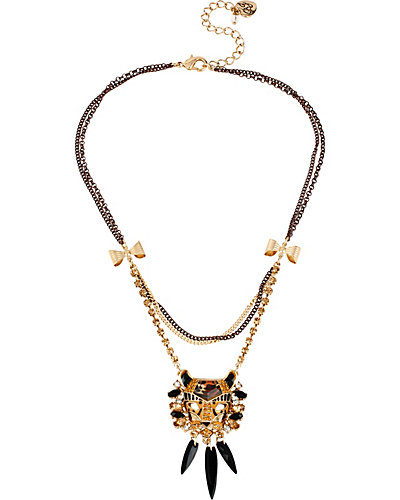 HOLLYWOOD GLAM HEART PENDANT LEOPARD
