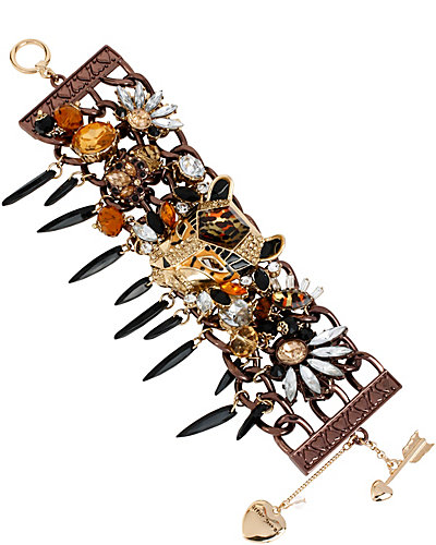 HOLLYWOOD GLAM TOGGLE BRACELET LEOPARD