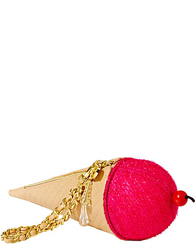 ICE CREAM CONE WRISTLET FUSCHIA