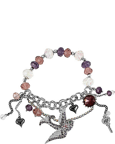 ICONIC AMETHYST BIRD CHARM BRACELET PURPLE