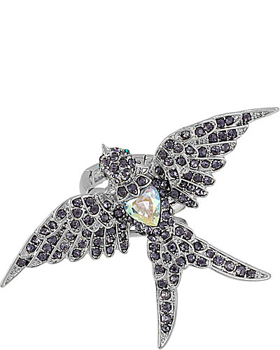 ICONIC AMETHYST BIRD RING PURPLE