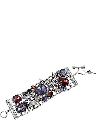 ICONIC AMETHYST GEM TOGGLE BRACELET PURPLE