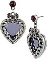 ICONIC AMETHYST HEART DROP EARRING PURPLE