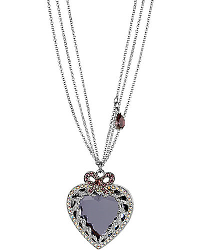 ICONIC AMETHYST HEART PENDANT PURPLE