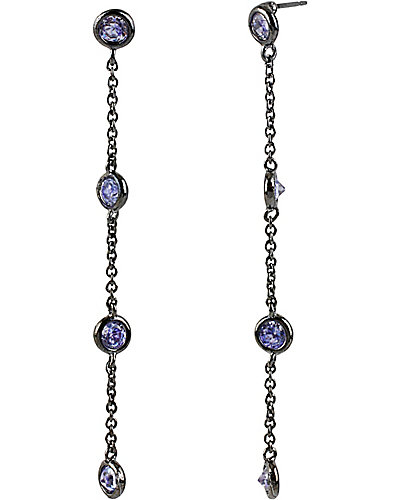 ICONIC AMETHYST LINEAR EARRING PURPLE