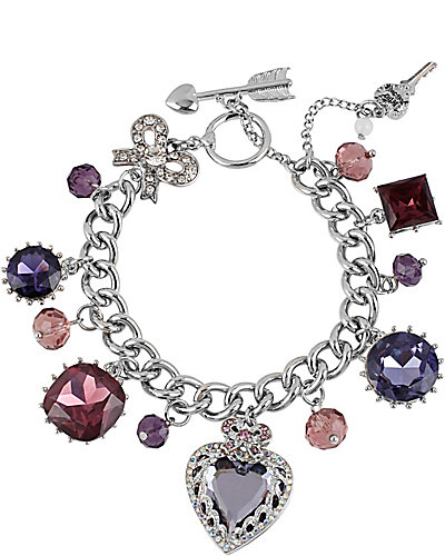 ICONIC AMETHYST MULTI CHARM BRACELET PURPLE