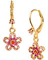ICONIC CRYSTAL FLOWER EARRING PINK