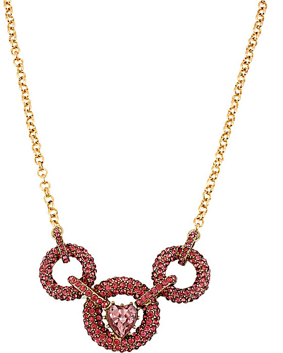 Iconic Pinkalious Circle Link Necklace in Fuchsia