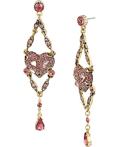 ICONIC PINKALIOUS HEART CHANDELIER FUSCHIA