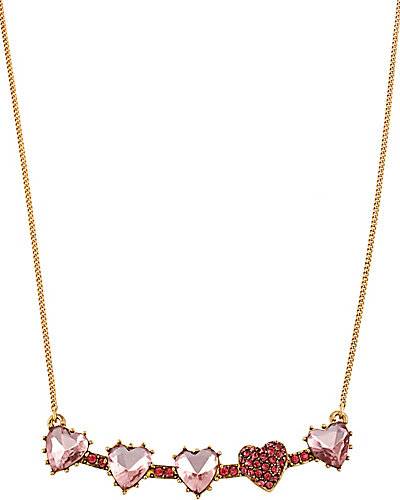 ICONIC PINKALIOUS HEARTS NECKLACE FUSCHIA