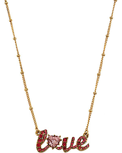 ICONIC PINKALIOUS LOVE NECKLACE FUSCHIA