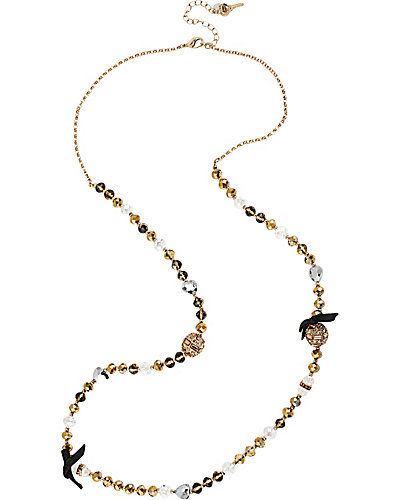 ICONIC TOPAZ FIREBALL LONG NECKLACE TOPAZ