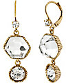 ICONIC TOPAZ GEM DROP EARRING CRYSTAL
