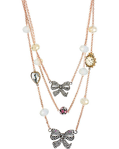 ILLUSION CRYSTAL BOW NECKLACE CRYSTAL
