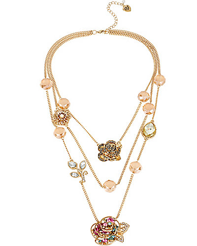 ILLUSION MULTI ROSE NECKLACE MULTI