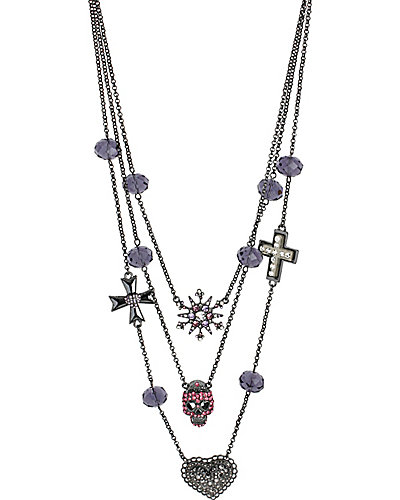 ILLUSION PINK SKULL NECKLACE PURPLE