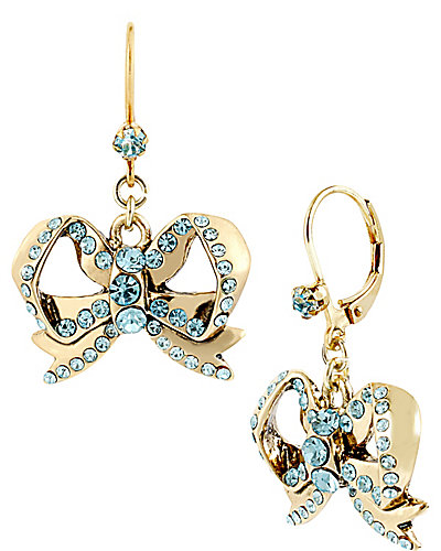 IMPERIAL BOW DROP EARRING BLUE