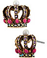 IMPERIAL CROWN STUD EARRING PINK