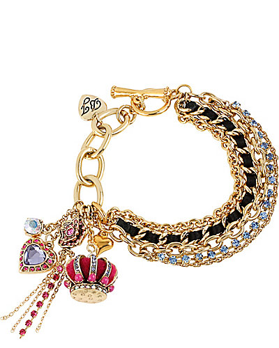 IMPERIAL CROWN TOGGLE BRACELET PINK