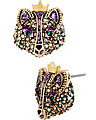 IMPERIAL FOX STUD EARRING PURPLE