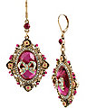 IMPERIAL FRAME BOW DROP EARRING PINK