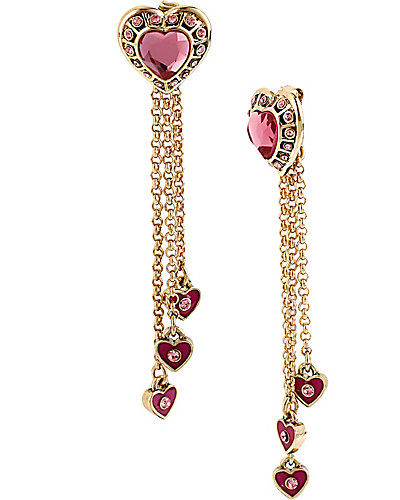 IMPERIAL PINK HEART DROP EARRING PINK