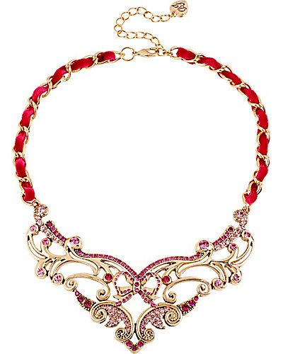 IMPERIAL PINK SCROLL NECKLACE PINK