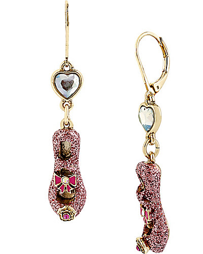 IMPERIAL PINK SLIPPER DROP EARRING PINK