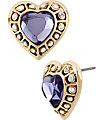 IMPERIAL PURPLE HEART EARRING PURPLE