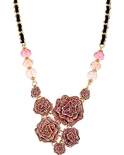 IMPERIAL ROSE CLUSTER NECKLACE PINK