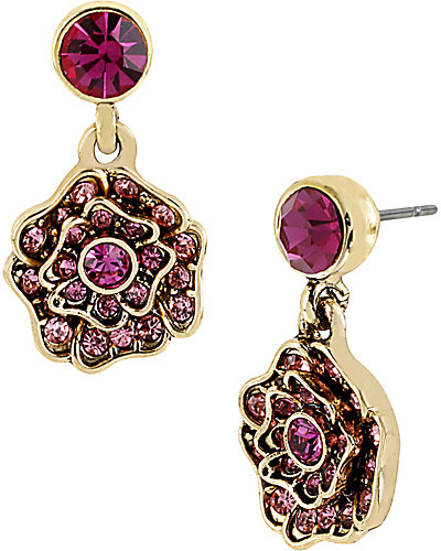 IMPERIAL ROSE DROP EARRING PINK