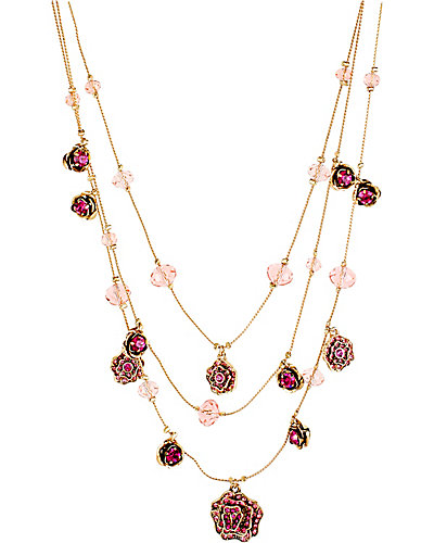 IMPERIAL ROSE ILLUSION NECKLACE PINK