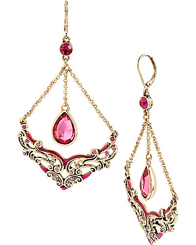 IMPERIAL SCROLL CHANDELIER EARRING PINK