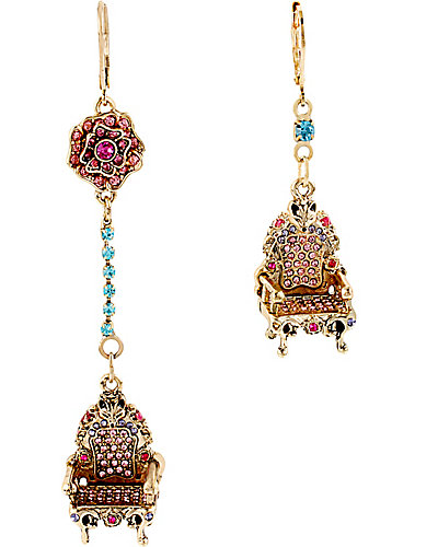 IMPERIAL THRONE MISMATCH EARRING PINK