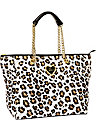 INTO THE DEEP TOTE LEOPARD