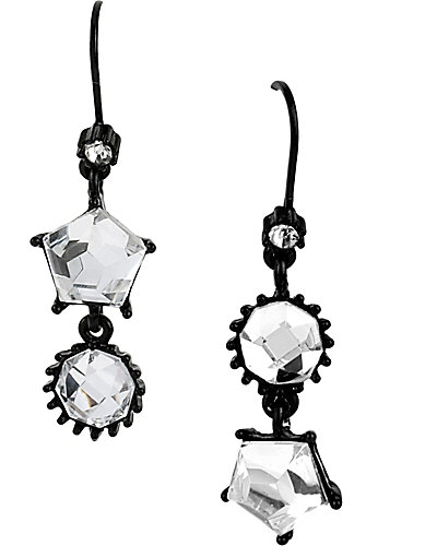 JET SET DOUBLE DROP EARRING CRYSTAL