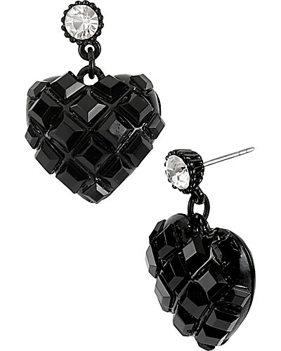JET SET HEART DROP EARRING JET