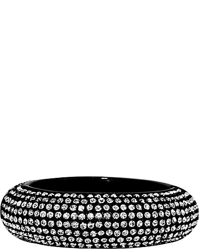 JET SET HINGE BANGLE CRYSTAL