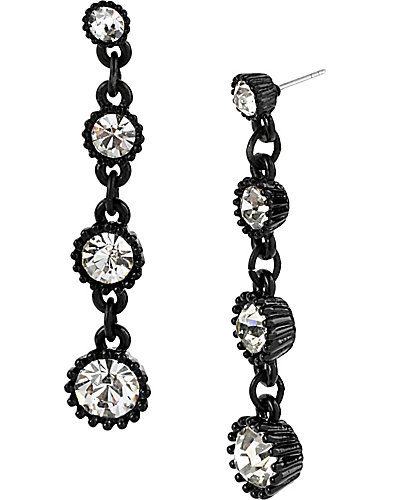 JET SET LINEAR EARRING CRYSTAL