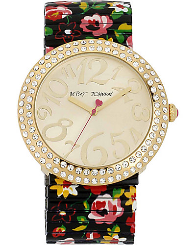 JUMBO FLOWER BAND WATCH MULTI