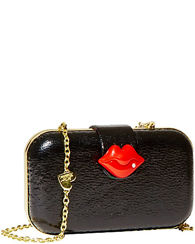 KISS CLOSURE CLUTCH BLACK