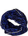 LACE ATTRACTION CHAIN EDGE INFINITY SCARF BLUE