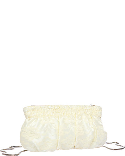 LACE OVERLY CLUTCH CREAM