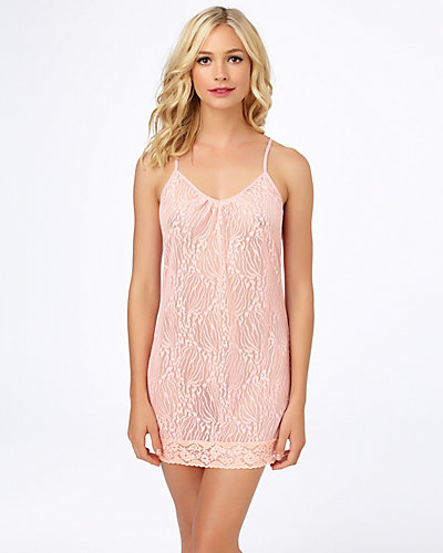 LACE TUNIC CHEMISE CORAL