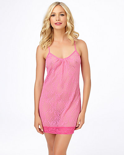 LACE TUNIC CHEMISE PINK
