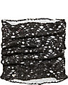 LACEY KNIT SNOOD BLACK