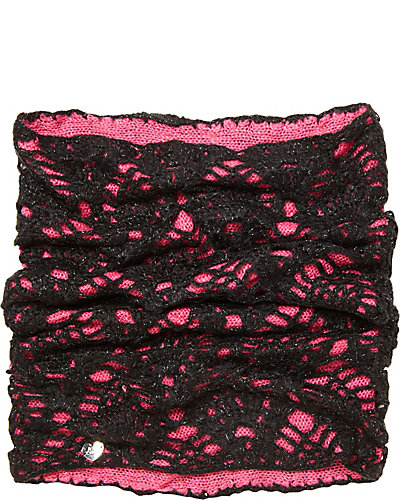LACEY KNIT SNOOD FUCHSIA