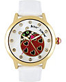 LADY BUG DIAL WATCH WHITE